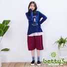 betty's貝蒂思 日系格子寬褲(紅色)