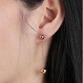 【5折超值價】情人節禮物最新款時尚精美圓球造型女款鈦鋼耳環
