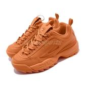 Fila 鋸齒鞋 Disruptor II Premium 橘 老爹鞋 韓妞必備 女鞋 復古運動鞋【PUMP306】 5C608T800
