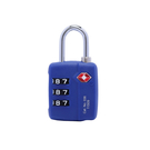 【Travel Blue 英國藍旅】TSA美國海關密碼鎖-藍