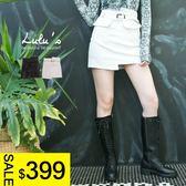 LULUS特價-Y高低褲頭口袋內襯褲裙S-L-2色  現+預【04070220】