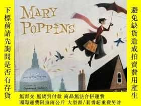 二手書博民逛書店英文原版罕見隨風而來的瑪麗·波平斯阿姨 歡樂滿人間 Lauren Child插畫 Mary PoppinsY2