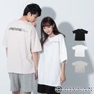 【OBIYUAN】短袖t恤 韓國製 情侶款 字母 衣服 寬鬆 圓領上衣 3色【F10015】
