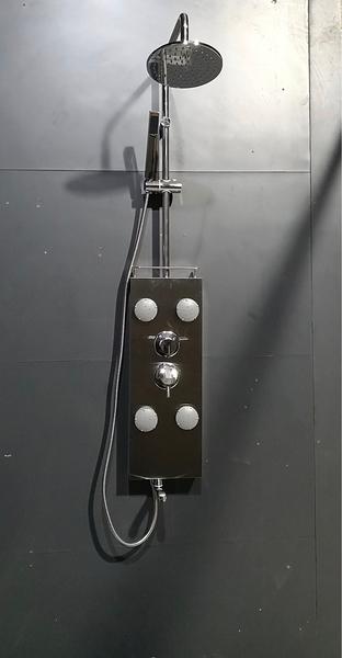 【麗室衛浴】 豪華款K-202 不鏽鋼淋浴柱4組廣角噴頭含上花灑白鐵製及蓮蓬頭