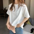 白色t恤女短袖2021年春夏新款純棉寬松簡約體恤打底衫女內搭上衣 設計師