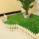 塑料柵欄圍欄花壇柵欄田園小籬笆庭院室內白色幼兒園聖誕裝飾圍欄 樂活生活館