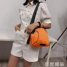 包包新款夏季潮范彩色貝殼女包牛津布媽咪包單肩側背包 可然精品