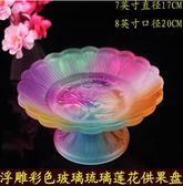 佛教用品佛堂供果盤陶瓷蓮花供盤