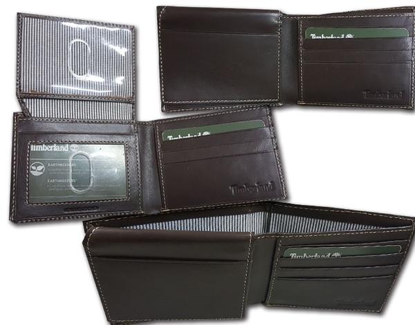 【Timberland】男皮夾 短夾 牛皮夾 多卡夾 大鈔夾 品牌盒裝/棕黑色