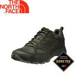 【The North Face 男款 GTX 低筒健行鞋《綠》】V4DU/超輕抗菌防水透氣/登山健/行鞋/抓地輕型鞋★滿額送