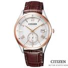 CITIZEN/星辰 光動能玫瑰金手錶(BV1124-14A) 小秒針/38.5mm