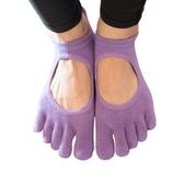 卡益防滑瑜伽襪 專業女初學者春夏棉五指襪瑜珈普拉提漏趾防滑襪 至簡元素