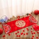 結婚用品門墊地墊紅色
