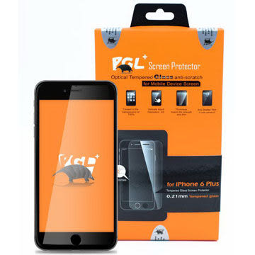 {光華新天地創意電子}PGL+ iPhone6 Plus 0.21mm 玻璃螢幕保護貼. 喔!看呢來