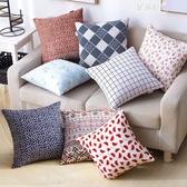 (快出)棉麻抱枕卡通靠墊方形抱枕套芯午休靠枕護腰靠墊沙發抱枕靠墊YYJ