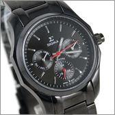 【萬年鐘錶】SIGMA日系 三眼時尚錶 1018B-B