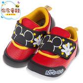 《布布童鞋》Disney迪士尼米奇黑紅色透氣兒童休閒鞋(13~16公分) [ D7P217D ]