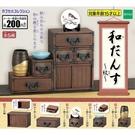全套5款【日本正版】日式傳統櫥櫃 紋篇 扭蛋 轉蛋 迷你櫥櫃 擺飾 EPOCH - 623980