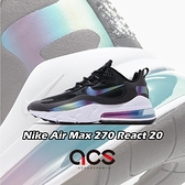 Nike 休閒鞋 Air Max 270 React 20 黑 彩色 泡泡系列 男鞋 氣墊 【ACS】 CT5064-001