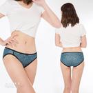 【岱妮蠶絲】低腰女三角蠶絲內褲(藍佩斯利)