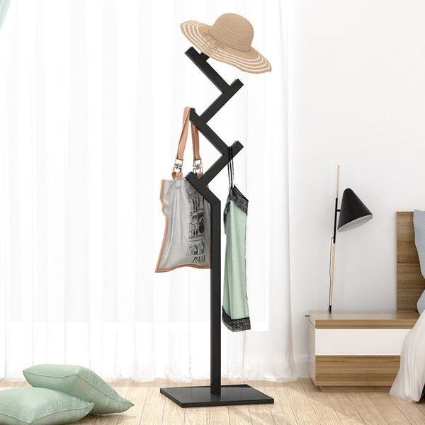 衣帽架落地掛衣架臥室簡易實木衣架衣服架子家用簡約現代落地式特惠免運