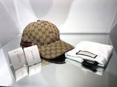 ■現貨在台■專櫃77折■ Gucci Logo Web 圖紋棒球帽 米色 XL