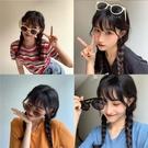 【買一送一】ins墨鏡女韓版網紅同款太陽鏡小臉蹦迪大臉《蓓娜衣都》