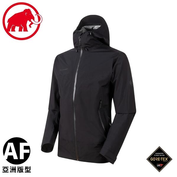 【MAMMUT 瑞士 男 Convey Tour AF 超輕量防水外套《黑》】1010-28450/防風外套