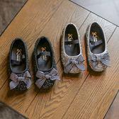 公主鞋 新款女童軟底皮鞋水晶單鞋秋季新款女童公主鞋 女童豆豆鞋【中秋節】