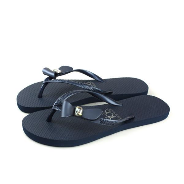 夾腳拖鞋 人字拖 深藍色 女鞋 81201-06 no141