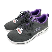 (BZ) SKECHERS 女鞋 GO WALK ARCH FIT 運動鞋 足底筋膜炎舒緩 124403GYLV灰紫 [陽光樂活]