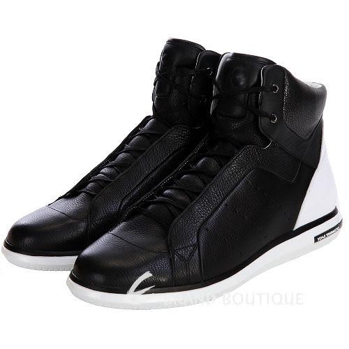 Y-3 黑色拼接設計高筒休閒鞋 1310743-01