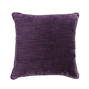 HOLA 素色拼色滾邊抱枕60x60cm 深紫