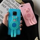 日韓SamSung S21手機套 隱形支架三星S21保護殼 創意Galaxy S21+保護套 卡通可愛小豬三星S21 Ultra手機殼