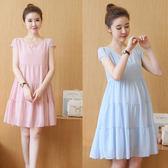 虧本衝量-洋裝 孕婦裝夏裝上衣新款韓版雪紡孕婦連身裙夏裝韓國時尚孕婦裙子 快速出貨