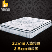 ASSARI-尊爵5cm乳膠備長炭天絲竹炭強化側邊獨立筒床墊(雙大6尺)