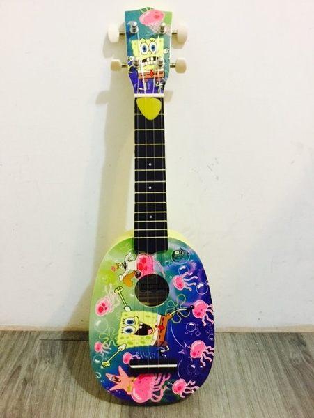 【金聲樂器廣場】全新 海綿寶寶 水母彩繪 西瓜型 烏克麗麗