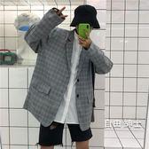 (低價促銷)韓國復古逼備百搭格子休閒西服西裝外套 男女款