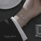 手鍊 S925銀手鍊ins小眾設計閨蜜手鍊女純銀學生森系韓版簡約個性首飾 寶貝計畫 618狂歡