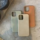 純色皮紋殼 適用 iPhone12Pro 11 Max Mini Xr X Xs 7 8 plus 蘋果手機殼