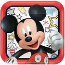 迪士尼 餐具 9吋方盤8入-米奇很忙