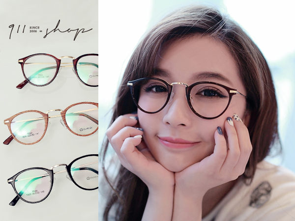 Bloom.TR90塑膠鈦MIX金屬橢圓框光學配鏡框眼鏡【p645】*911 SHOP*