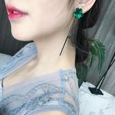花朵耳環簡約百搭耳飾品個性流蘇吊墜潮人耳墜長款氣質耳釘女     9號潮人館