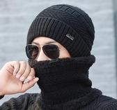 帽子男冬天針織加絨加厚韓版保暖防寒騎車秋冬季男士棉帽  免運快速出貨