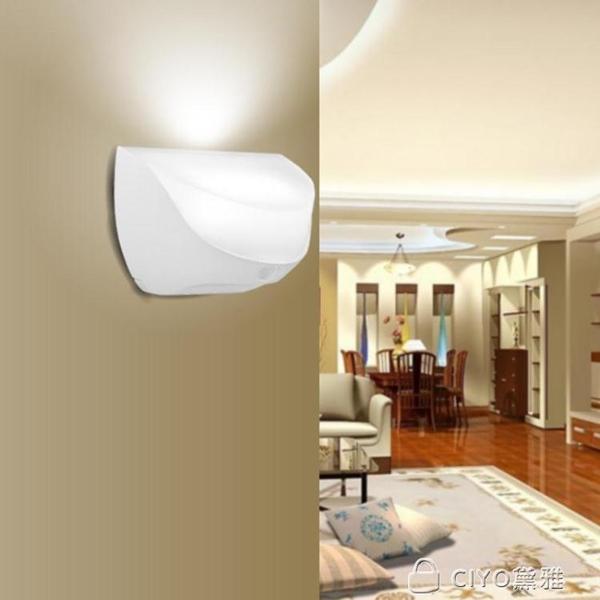 USB充電人體感應燈LED小夜燈光控壁燈樓道過道地腳牆角燈開關防水 ciyo黛雅