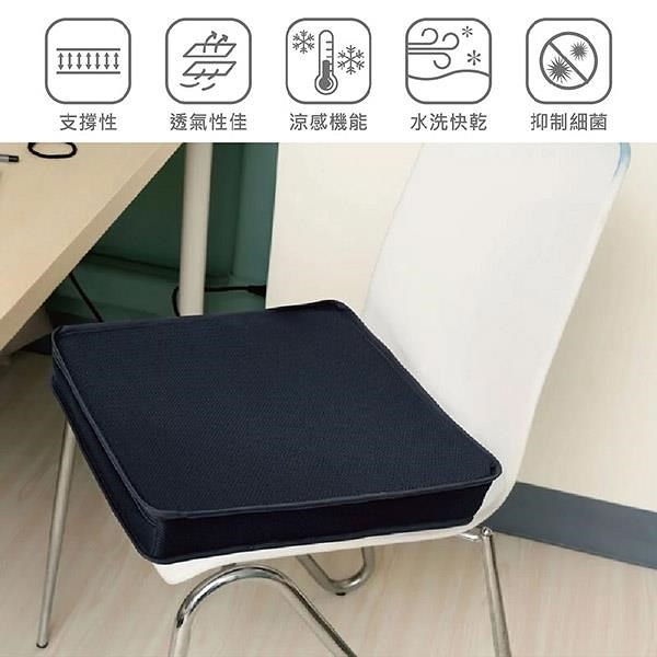 【南紡購物中心】【Prodigy波特鉅】4D空氣纖維涼感坐墊/椅墊