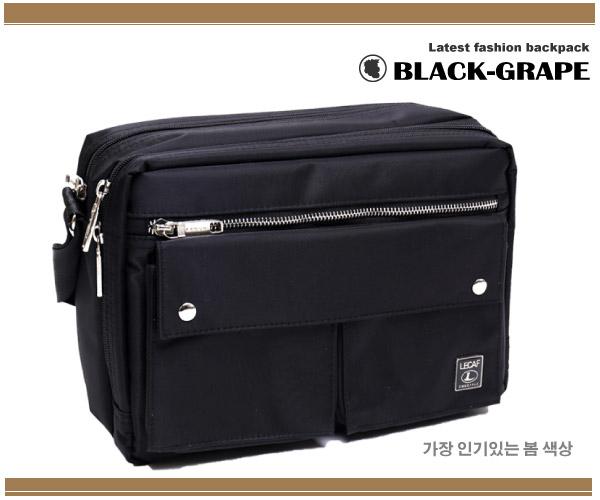 時尚嚴選-韓系尼龍斜背包/側背包【C6020】黑葡萄包包
