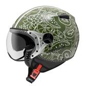 【東門城】ASTONE KSS DD90(綠/白)3/4半罩式安全帽