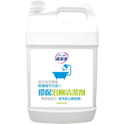 【清淨海 Sea mild 清潔劑】清淨海環保浴廁清潔劑 1加侖/4桶/箱