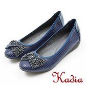 ★2018 春夏新品★本週下殺kadia.典雅造型蝴蝶結鑽飾包鞋(8002-58藍色)